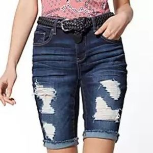 **NEW** Destroyed Bermuda Shorts
